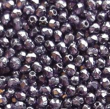 2.5mm Fire Polished, Tanzanite Lustre - 100